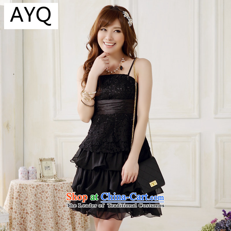 Hiv has been qi sweet lace straps cake princess skirt evening dresses and sisters in small dress dresses�9909A-1�black are Code F