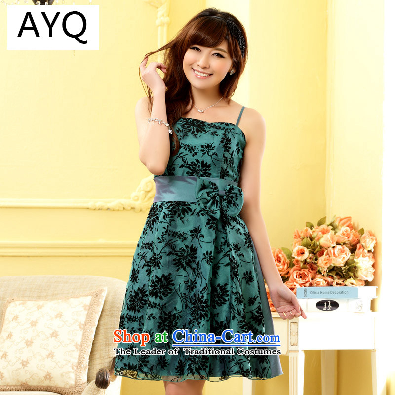 Hiv has been good QI flocking evening dresses stylish chest at the end of Sau San sister Princess small dress dresses�9705A-1�green are Code F