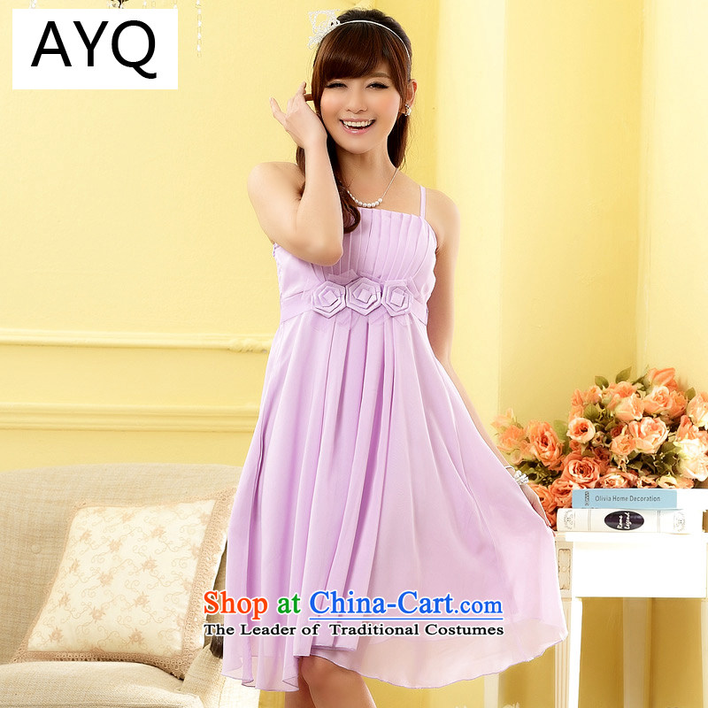Hiv has stylish qi sister fine kidney strap dress skirt dresses聽9805A-1聽PURPLE聽XL