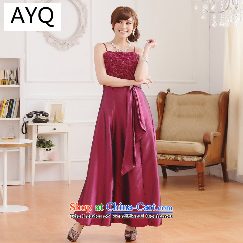 Hiv has been qi temperament rose Sau San video thin drill clip gown dresses�9700A-1��XXXL aubergine