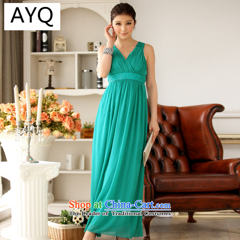 Hiv has been Qi Western Wind package manually reset Amaral Chest Graphic nail-ju High-end gown evening dresses dresses?9602A-1?GREEN?XL