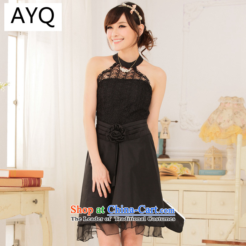 Hiv has been qi noble palace princess lace video-waist also dress dresses?9114A-1??XXXL black