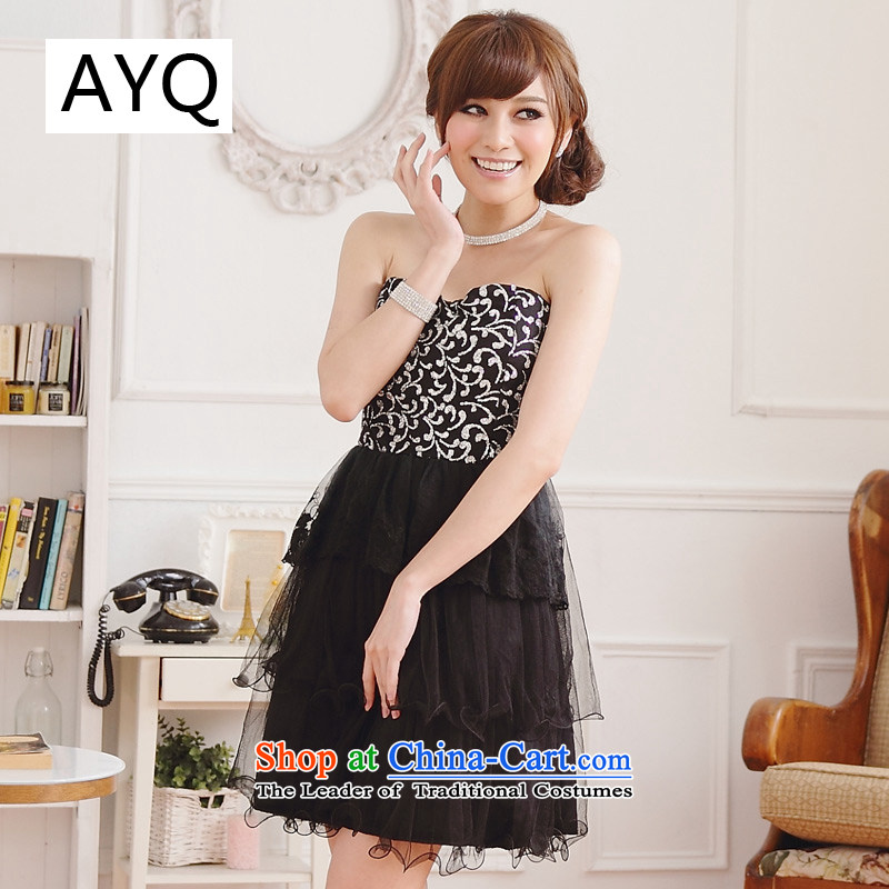 Hiv has been Qi Maya eye retro Sau San video end thin chest cake skirt dress skirt (feed)?9108A-1 Stealth?Black?XXL