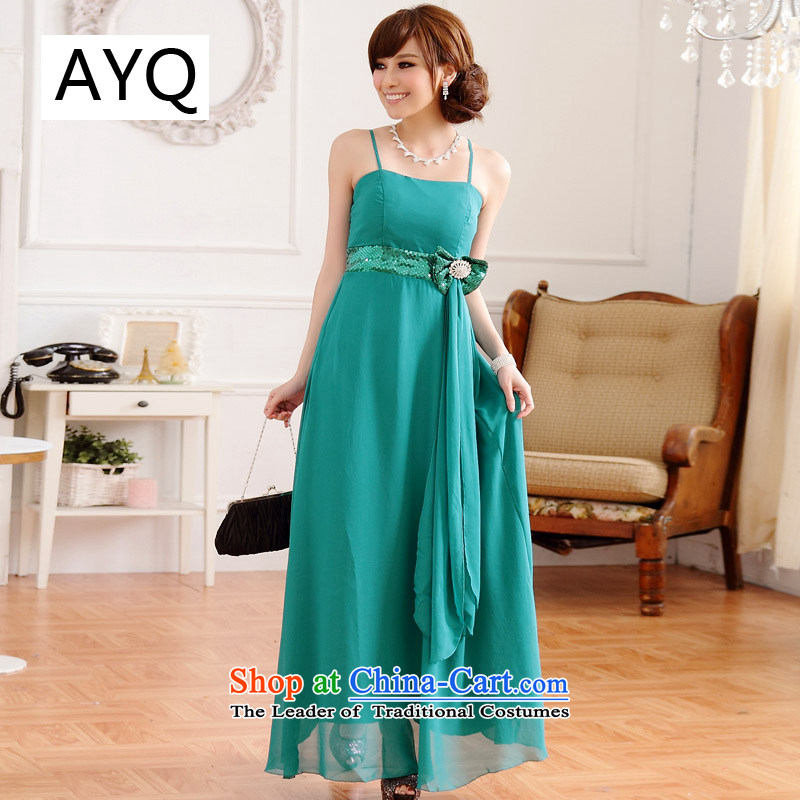 Hiv has been sounded pretty big western qi licensing on drill strap long version of the evening dresses dresses 9212A-1  XXXL green