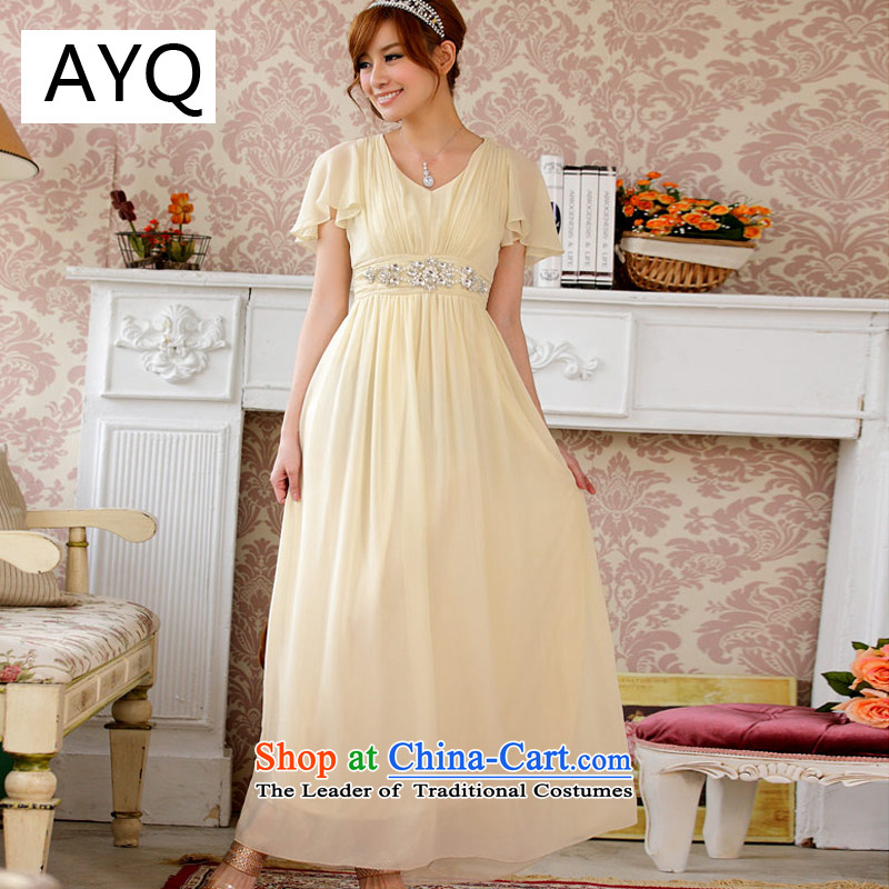 Hiv has luxurious goods of diamonds Qi Niba cuff video thin beauty of the longer version of the evening dresses dresses�9200A-3��XXXL champagne color