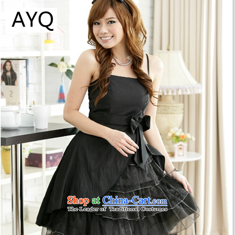Hiv has been qi dinner cake dress strap dresses聽1162-1聽Black聽XL