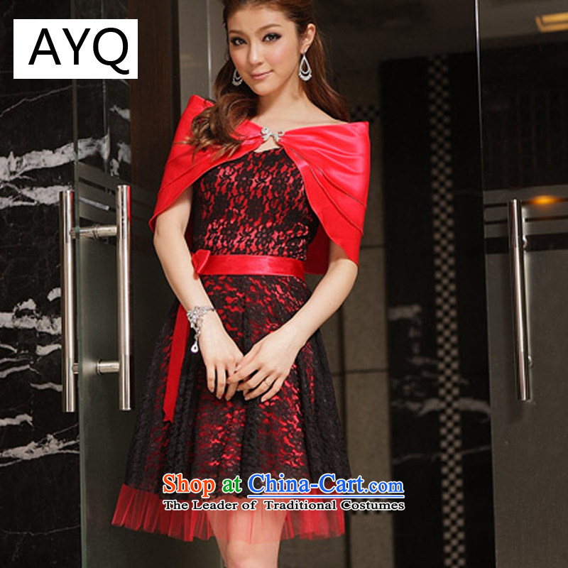 Hiv has been qi charm sweet lace end chest dresses bridesmaid small?red?XXXL dress 8224