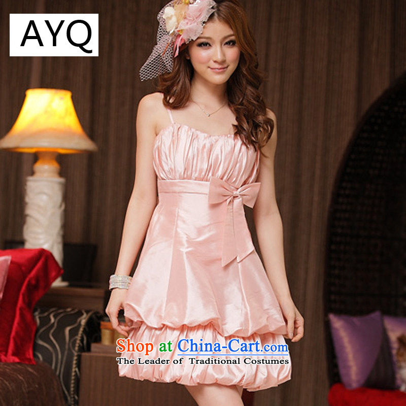 Hiv has been to them attractive Princess Qi straps lanterns dress dresses聽8419-1聽pink聽XL