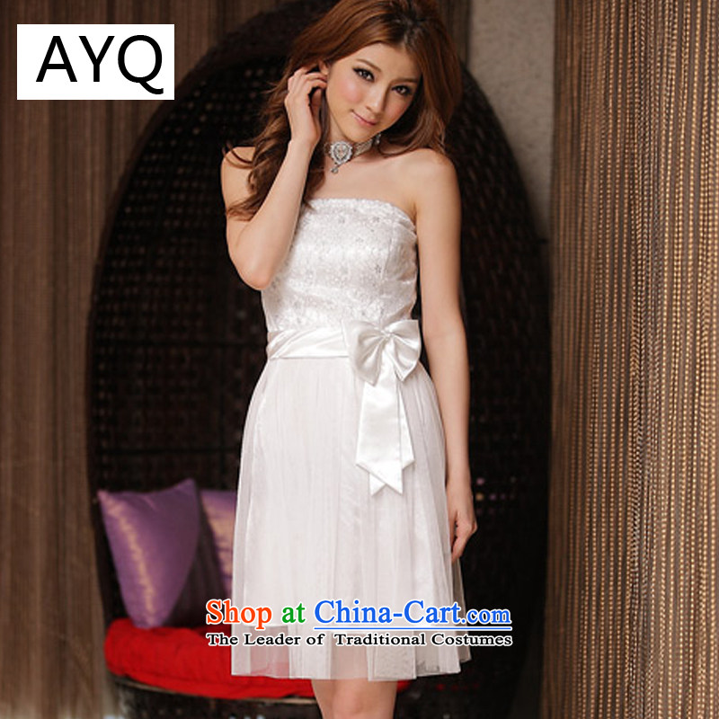 Hiv has been qi sweet princess lace dress strap dresses?8225-1?White?XXL