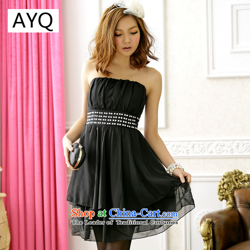 Hiv has been placed at the end of the Double Niba Qi chest dresses bridesmaid dress?code are black 3304-3