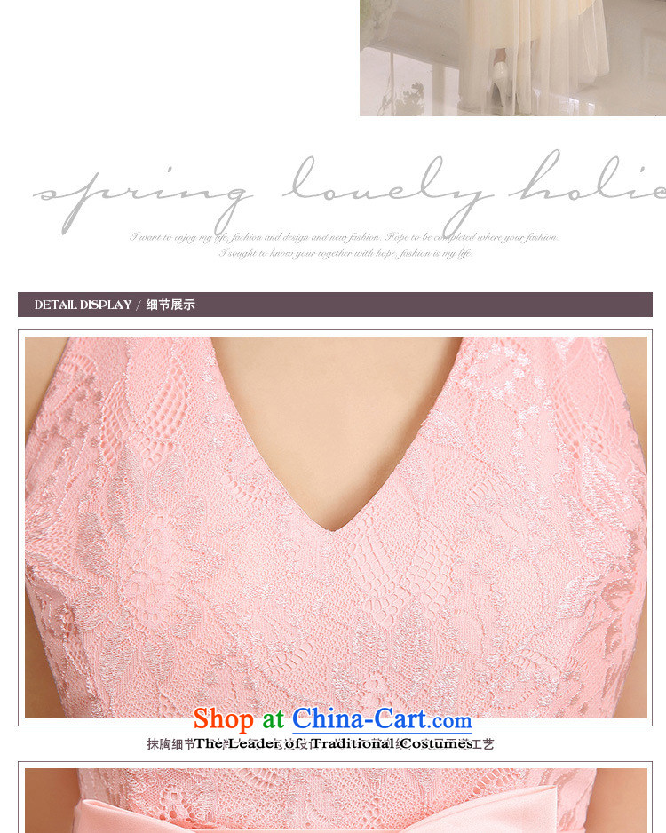158 and the 2015 Korean elegance and sexy large V-Neck back up large waist bow tie lace spell gauze long festival gathering of dress depending on service small bridesmaid champagne color code聽 F pictures are, prices, brand platters! The elections are supplied in the national character of distribution, so action, buy now enjoy more preferential! As soon as possible.