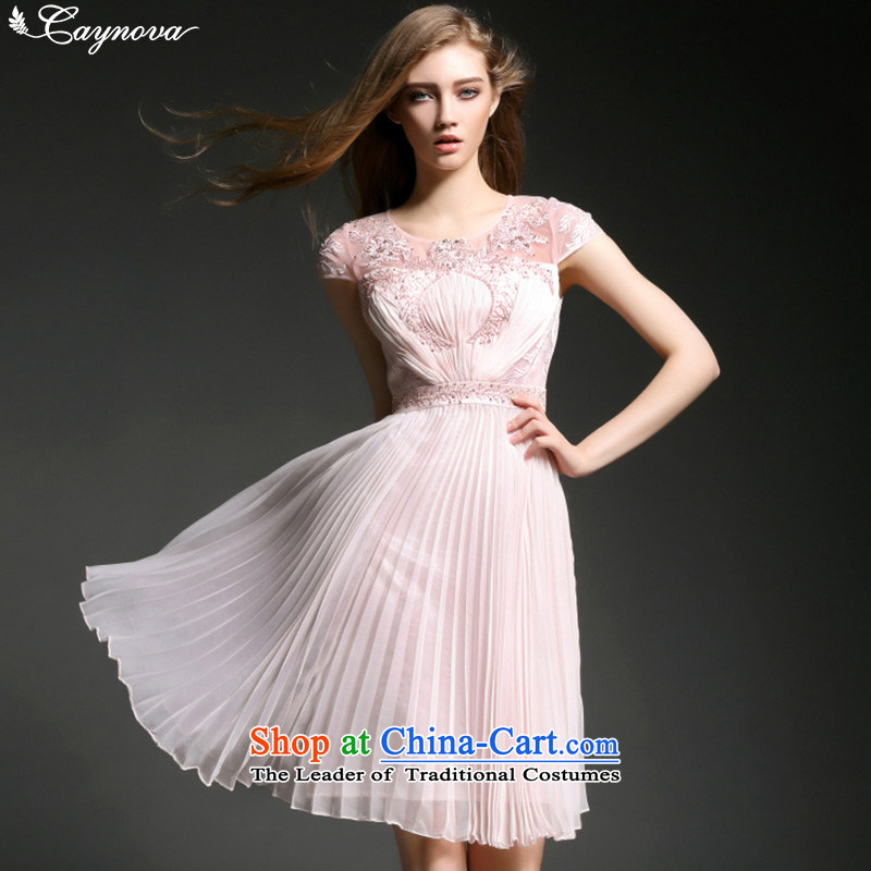 Caynova dresses 2015 New Europe and the luxury fashion heavy industry booking pearl pink dresses Sau San�XL