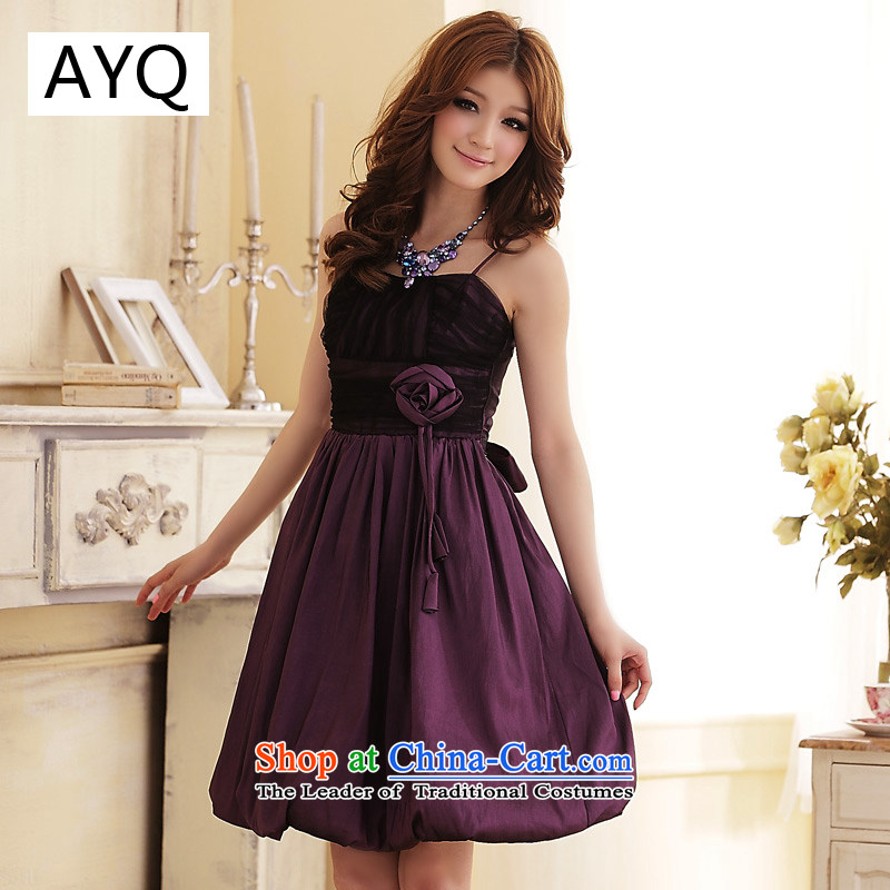 Hiv has spent Foutune of sweet qi lanterns strap dress dresses?3107-1?purple?XL