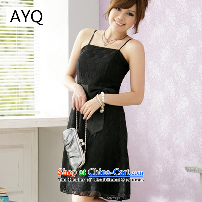 Hiv has been qi spring and summer, Princess Sau San small dress strap dresses?1224-1-1??XXXL black