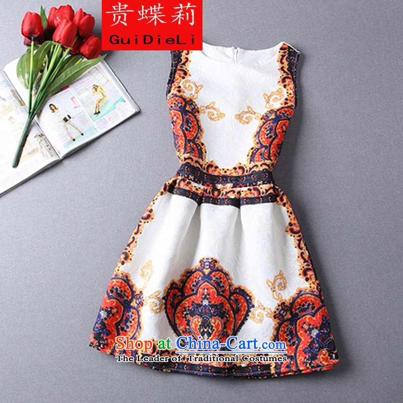 The Butterfly Spring 2015 Li new aristocratic temperament Sau San large princess bon bon dress small dress dresses crown orange�XL