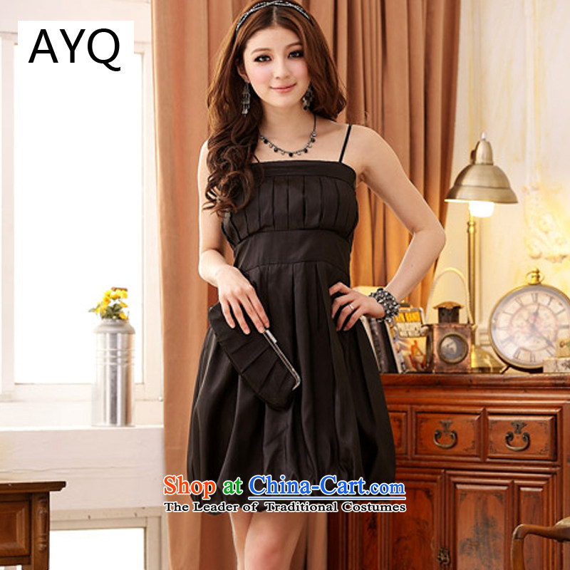 Hiv has been qi thick MM evening dresses Korean spring and summer load Princess Dinner lanterns skirt pinch small dress large lifting strap dresses 11658-1 pink XL, HIV has been qi (aiyaqi) , , , shopping on the Internet