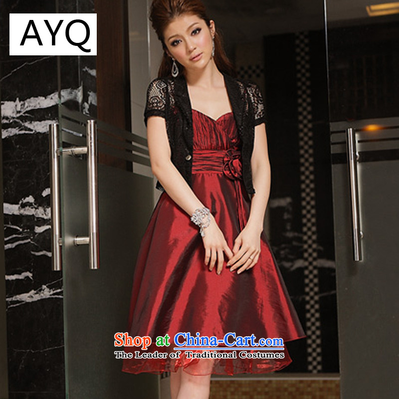 Hiv has been qi sexy V-Neck obsessed with moving arc feature pinch done manually take dress strap dresses and sisters bridesmaid skirt聽8341-1聽aubergine聽XXL