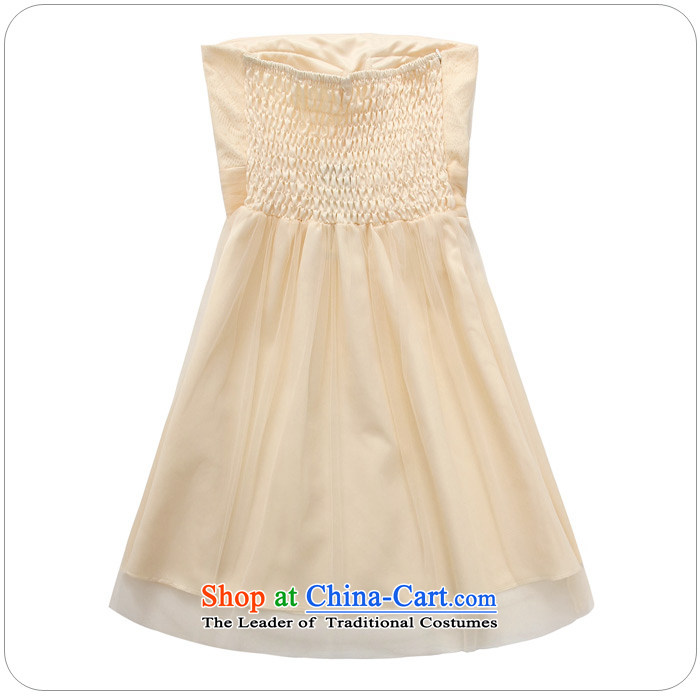 Hiv has been qi summer wedding dresses bridesmaid service expertise for larger Ms. Mary Magdalene chest of dress web dress dresses 9712A-1 champagne color pictures, prices, XXL brand platters! The elections are supplied in the national character of distribution, so action, buy now enjoy more preferential! As soon as possible.