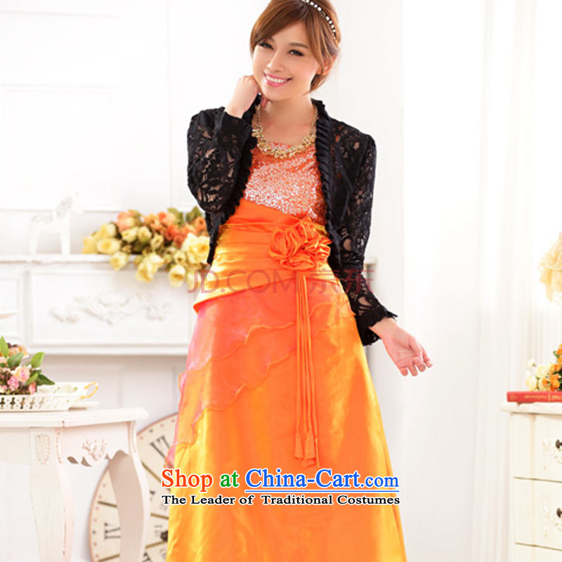 Hiv has been qi long Foutune of large banquet service upscale bare shoulders straps and sexy evening dress on chip moderator will 9717A-1 orange XXXL, HIV has been qi (aiyaqi) , , , shopping on the Internet
