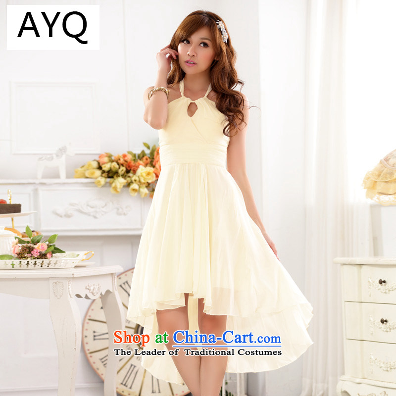 The Korean version of HIV have been Qi Yuan hang also short name in a small dress bridesmaid skirt sister services dovetail dinner dress聽champagne color are code 9915A-1