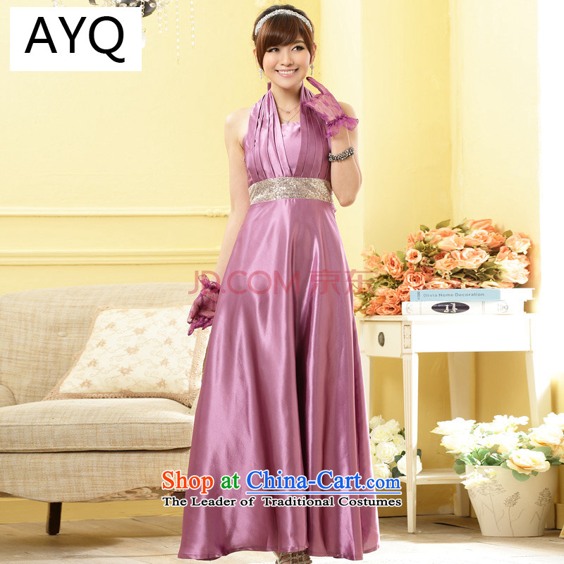 Hiv has been Qi Western wind in gathering drinking parties under the auspices of the betrothal bride evening dresses bridesmaid graphics ultra-long, thin dresses?9901A-1?PURPLE?XXL