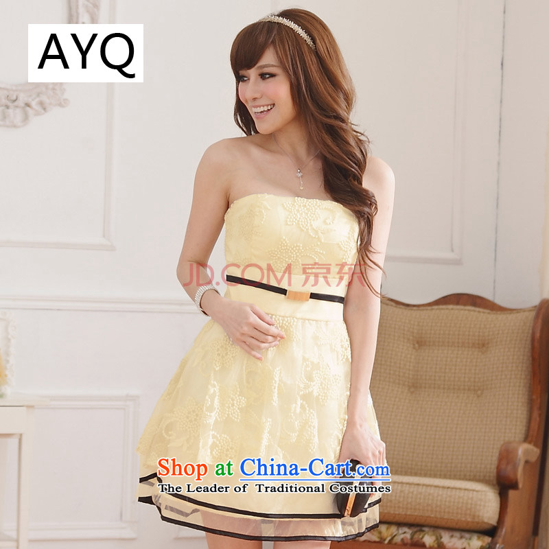 Hiv has been qi embroidery lace lanterns skirt anointed chest small dress sister skirt (feed)�9107A-1 stealth��XXXL champagne color