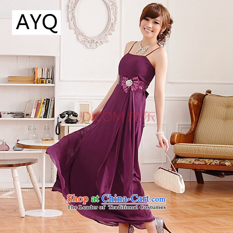 Hiv has big on Europe and the qi drill bride betrothal toasters evening dresses bridesmaid ultra-long skirt�9212A-1�PURPLE�XXL
