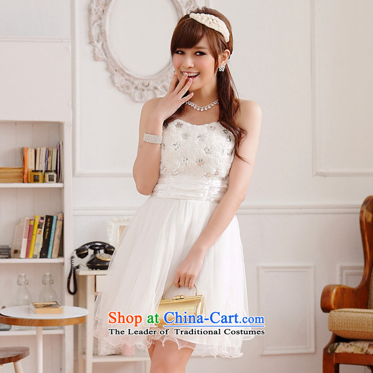 Hiv has won on film version of qi web wedding dresses dresses bon bon skirts and chest sister bridesmaid skirt (sent stealth shoulder strapwhiteXXXL 9100A-1) Picture, prices, brand platters! The elections are supplied in the national character of distribution, so action, buy now enjoy more preferential! As soon as possible.
