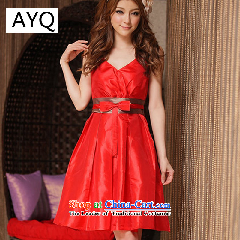 Hiv has been qi dress female dresses upscale waist spell color dresses dress skirt sister skirt?8223-1?RED?M