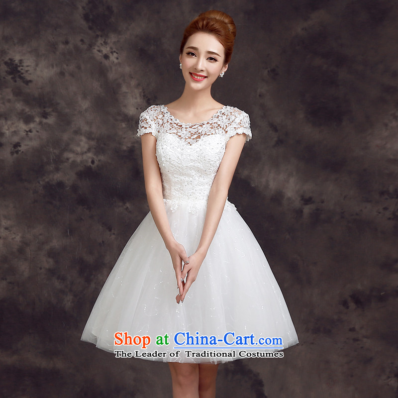 The privilege of serving-leung 2015 new spring and summer bridesmaid mission in Korean brides sister wedding dress small dress bows services white?S