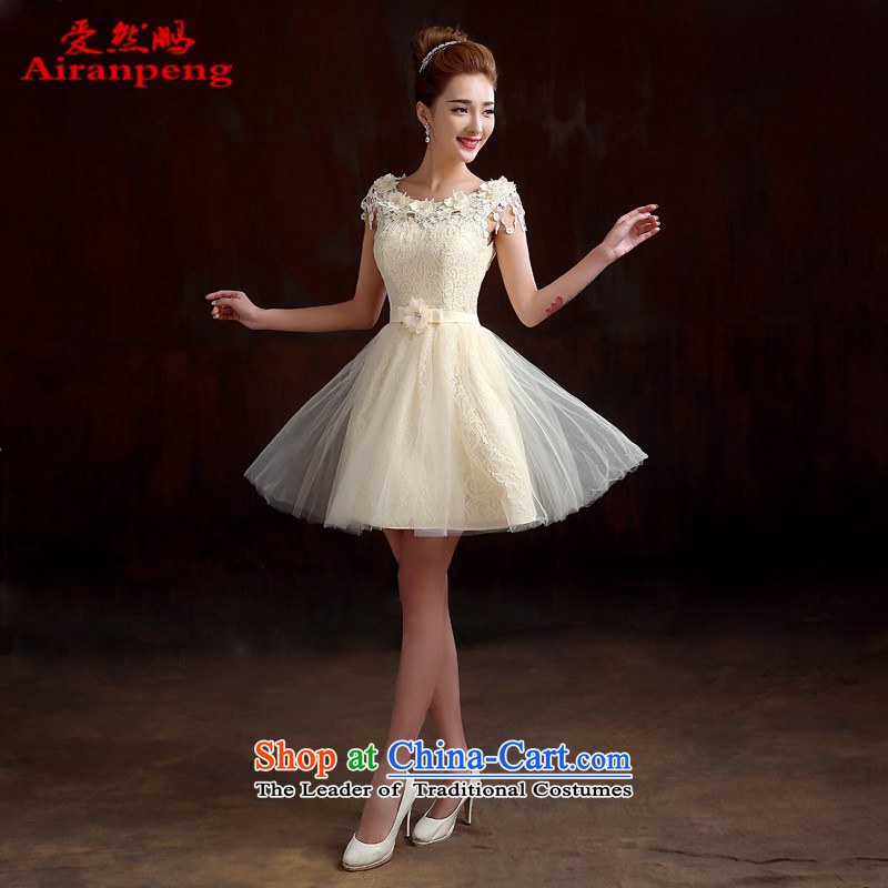 Love So Peng marriages bows service of spring 2015 new red lace shoulders bridesmaid service banquet evening dresses spring to the size of the champagne color customers do not support returning