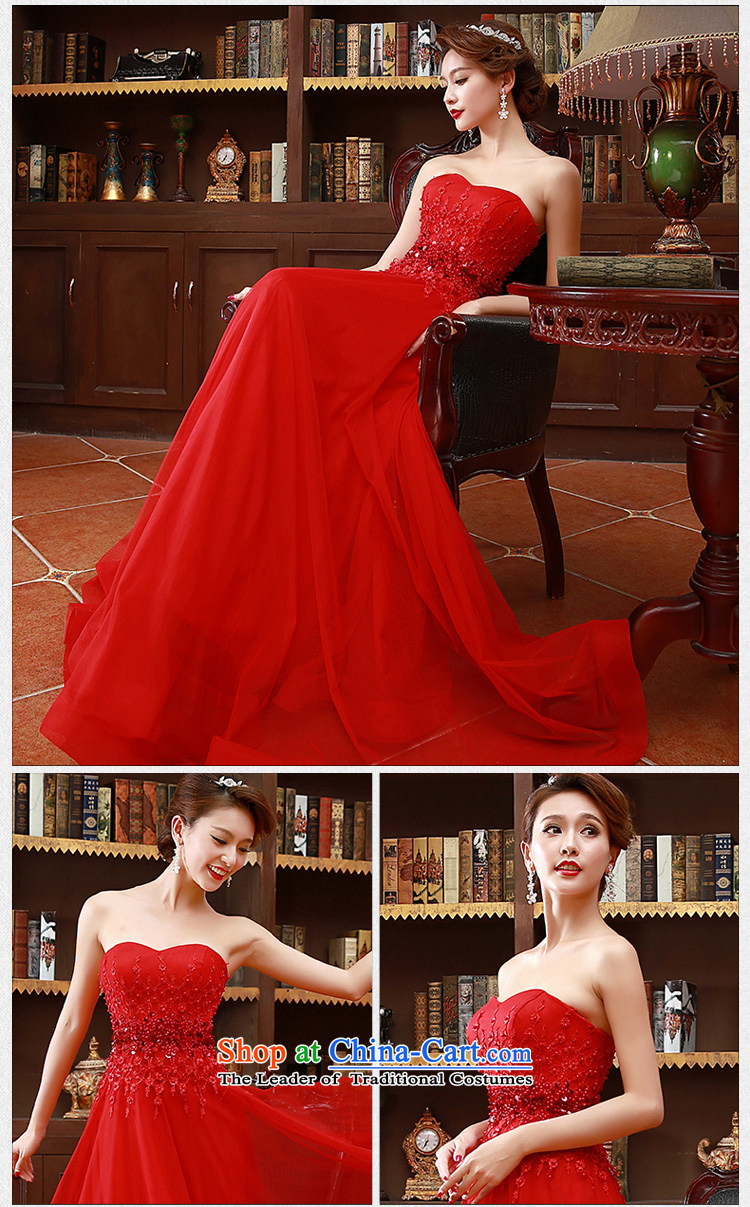 2015 Korean fashion and chest bride bridesmaid mission red long marriage bows Dress Code Red XL Photo, prices, brand platters! The elections are supplied in the national character of distribution, so action, buy now enjoy more preferential! As soon as possible.