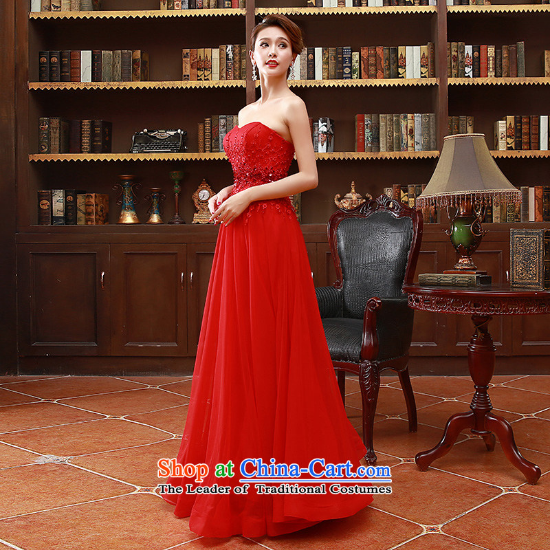 2015 Korean fashion and chest bride bridesmaid mission red long marriage bows dress code, Hyatt Regency Red XL marry the Arts , , , shopping on the Internet