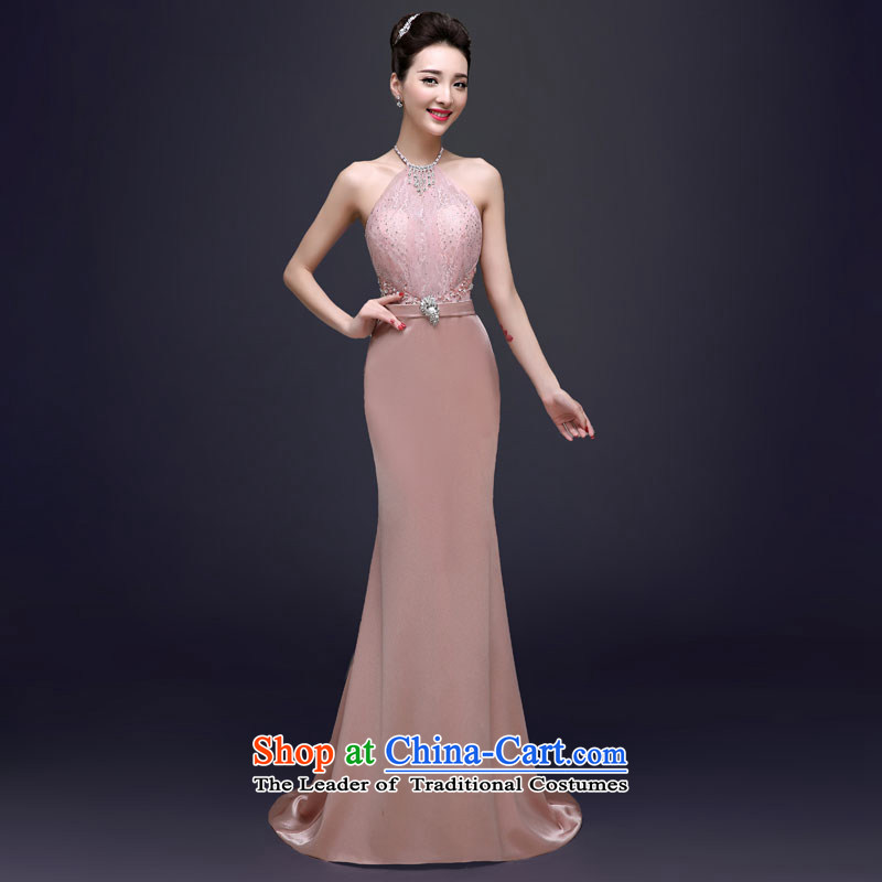 The privilege of serving the new 2015-Leung Chiu-bride wedding dress skirt moderator Ms. crowsfoot dress banquet long long?2XL
