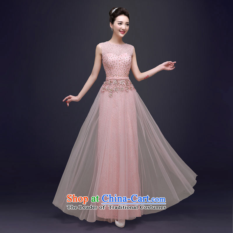 The privilege of serving the new 2015-Leung Chiu-bride bows service wedding dress wedding bridesmaid Ms. serving long evening dresses long?2XL