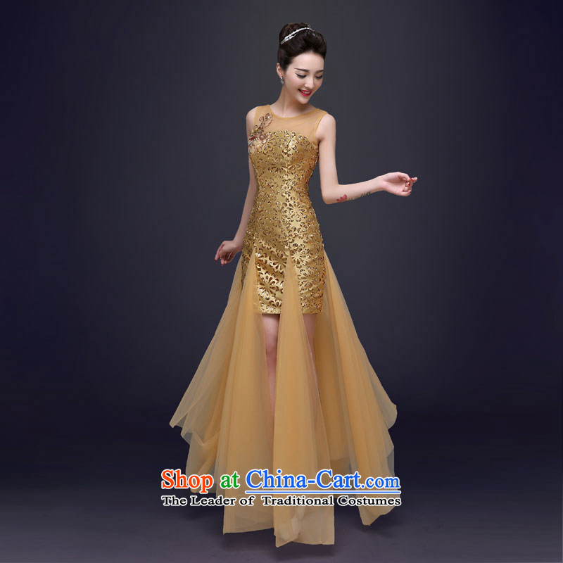 The privilege of serving the new 2015-Leung Chiu bridesmaid serving contemporary evening dresses moderator banquet Ms. long evening dresses long?S