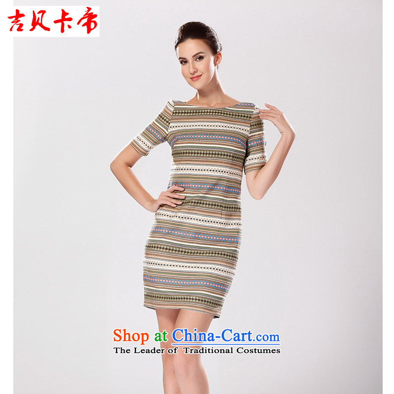 Gibez Card Dili dresses, forming the autumn and winter mandatory) streaks graphics thin Sau San package and dresses picture color?M
