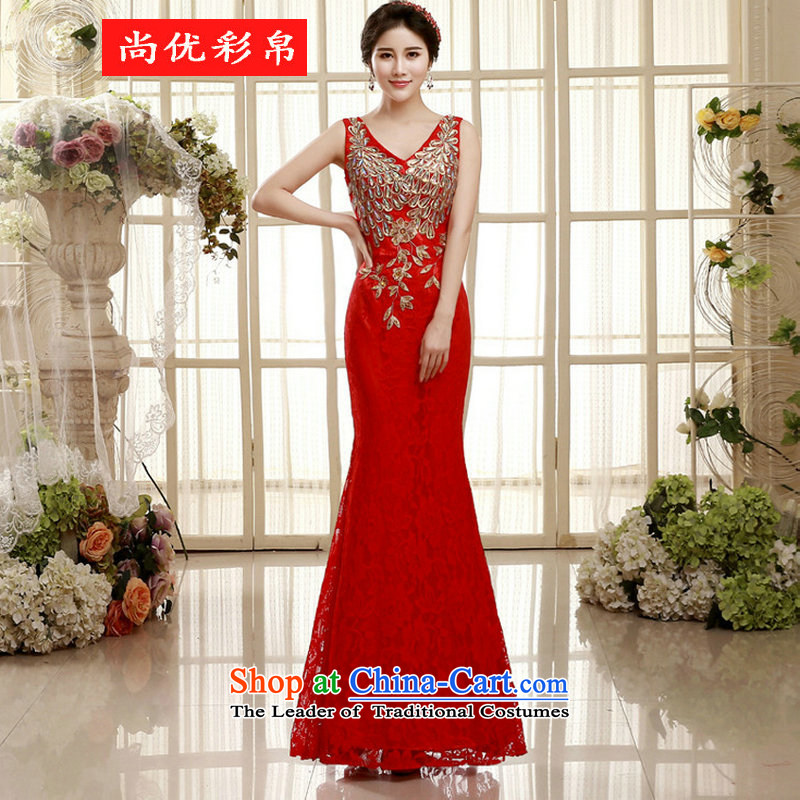 There is also a grand bride toasting champagne optimize Sau San long skirt evening shoulders long sexy crowsfoot wedding dress xs5456 presided over the red�M