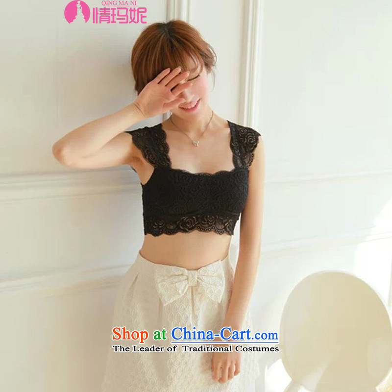 Of Shinta Mani lace wrapped chest small vest SEXY UNDERWEAR and forming inside the chest strap Bra pad D fleet strength was 8,397 black are code