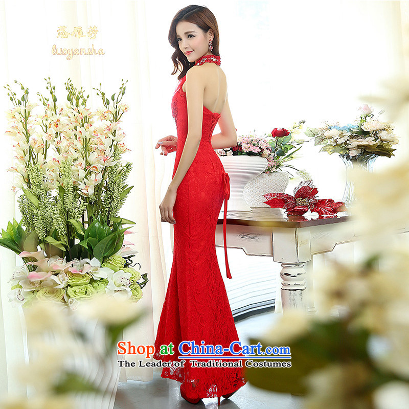 Lok Yan Sha Wedding 2015 new stylish marriages also crowsfoot dress winter Hang Sau San video thin wall also red?XL