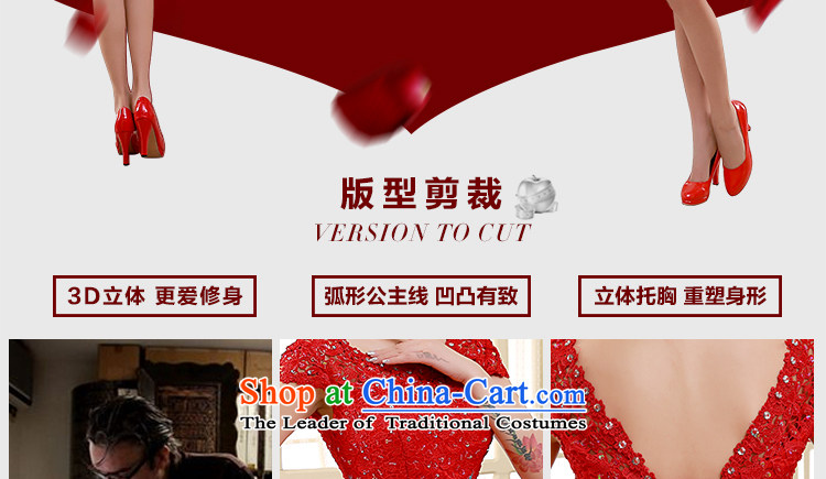 2015 new bridesmaid dress a field shoulder red lace short skirts on chip lace bon bon skirt straps small dress sister skirt RED M picture, prices, brand platters! The elections are supplied in the national character of distribution, so action, buy now enjoy more preferential! As soon as possible.