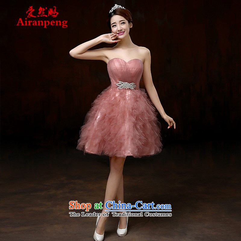 Love So Peng Evening Dress Short of 2015 new bride bows services during the spring and autumn summer hip little dress wedding dress moderator female clients to the size to do not support returning