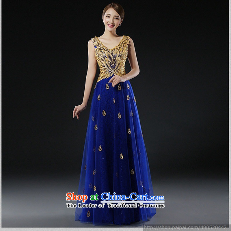 Evening dress new bows services 2015 bridal dresses long stylish red dress, Wedding Dress spring?XXXL blue does not allow