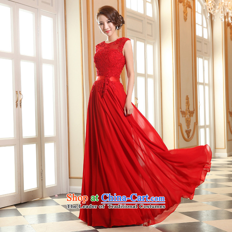 The spring and summer bridesmaid dress bride bows services new stylish wedding dress 2015 bridesmaid service long Sau San Female Red?XL
