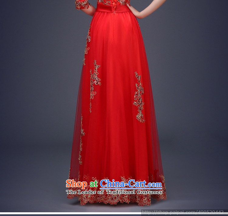 Ultra beautiful, wedding dresses, qipao and will, classically styled luxury with red dress long-sleeved聽S picture, prices, brand platters! The elections are supplied in the national character of distribution, so action, buy now enjoy more preferential! As soon as possible.