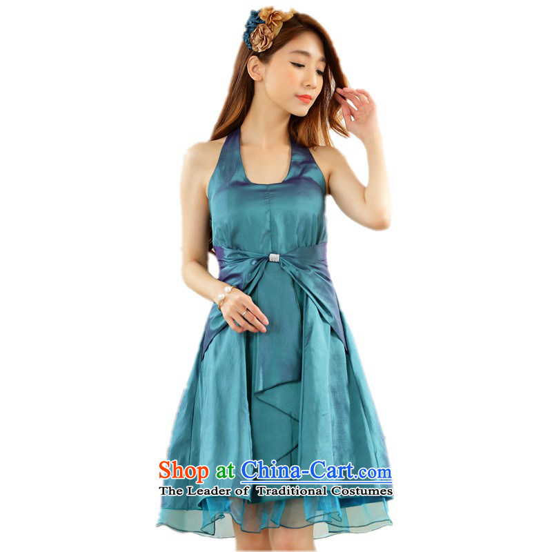C.o.d. 2015 new small dress dresses xl sexy Back Mount also video thin evening performances. Under the auspices of wedding dress skirt?around 125-145 green XL catty
