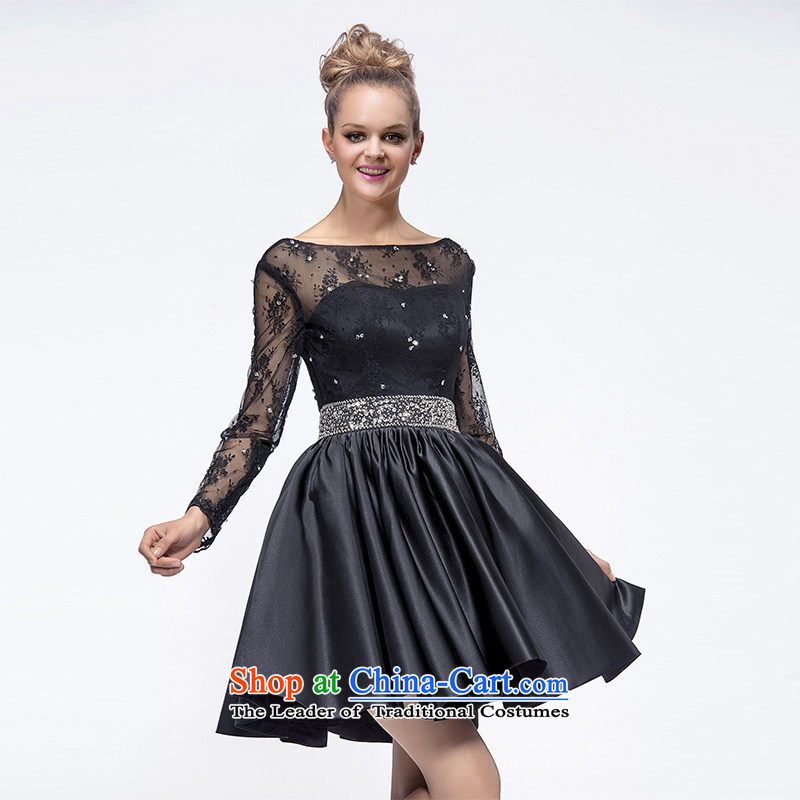 Hei Kaki�2015 New banquet dress continental shoulders evening dresses Love Mary Magdalene was chaired by annual concert chest dress skirt� FT02�black left tailored Size