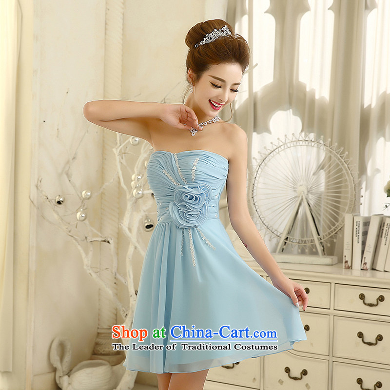 The bride bows service of the betrothal dinner dress?2014 new strap bridesmaid services and chest flower girl?S
