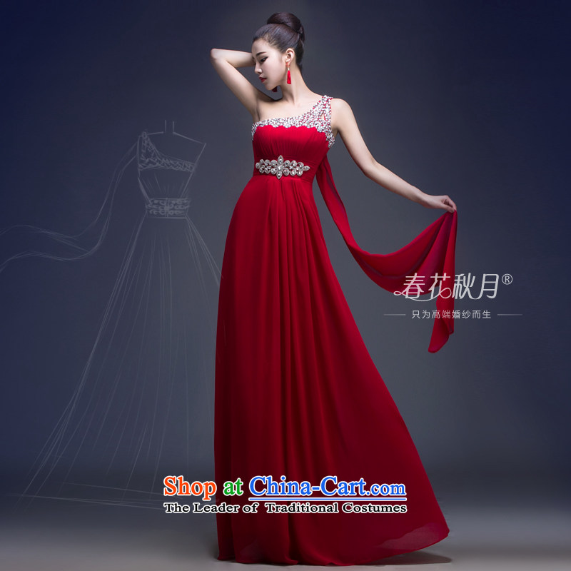Wedding dresses shoulder bows Services New 2015 married women dress stylish wedding night wear will long wine red�M