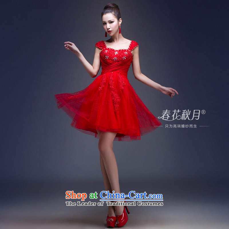 Toasting champagne marriage services Korean short of stylish dress 2015 new red band wedding brides   replacing summer RED?M